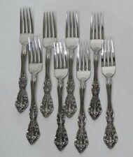 """Oneida Community Brahms Betty Crocker Stainless 8 Dinner Forks Very Good 7¼"""""""
