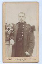 Photographie  Militaire sur support cartonné COTE Photographe à Verdun