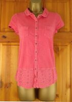 NEW EX WHITE STUFF COTTON BRODERIE SUMMER BLOUSE TOP YELLOW PINK GREEN UK 6-14