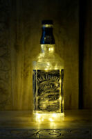 DIY Recycled Upcycled Jack Daniels Retro Vintage Bottle LED Lamp Warm Lights