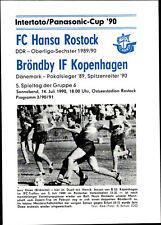 IFC 14.07.1990 FC Hansa Rostock - Bröndby IF Kopenhagen, InterToto Cup