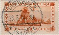 """SARRE / SAAR / SAARGEBIET - 1934 - """" DUDWEILER / * (SAAR) c """" sur Mi.143"""
