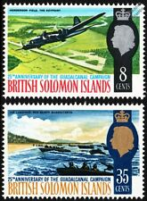 WWII GUADALCANAL Boeing B-17 Flying Fortress/Red Beach US Marine Landings Stamps