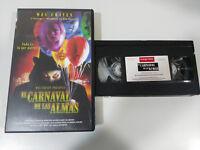EL CARNAVAL DE LAS ALMAS WES CRAVEN VHS CINTA TAPE CASTELLANO TERROR HORROR &