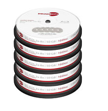 50 Primeon 2761311 Non Printable Blank Blu Ray DL Discs 50GB 2x - 8x Ultra Speed