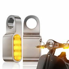 2x 12V Mini Motorrad LED Blinker Blinkleuchte Lenkerarmatur Für Harley Honda E24