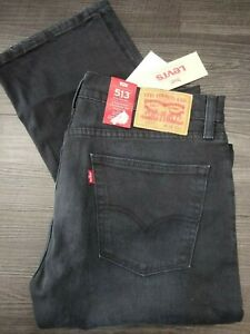 "LEVI'S : 513 Slim Straight Fit Jeans (Mens Waist 32"" / Leg 34"" / Ink Blue) *New*"