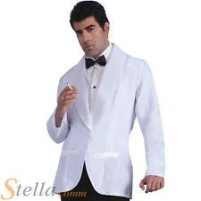 Mens Formal White Jacket Fancy Dress Costume James Bond Gangster Outfit