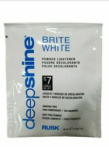 RUSK BRITE WHITE Ammonia Free Powder Lightener Lifts Up to 7 Levels ~ 1 ounce