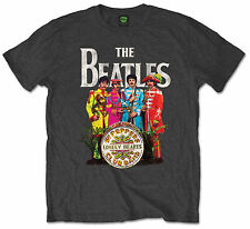 Official Beatles Music T-Shirt Abbey Rd Sgt Pepper Rubber Soul Yellow Submarine