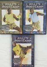 Billy's Bootcamp Billy Blanks Lot of 3 Exercise Dvd's Abs Lower Body & Basic