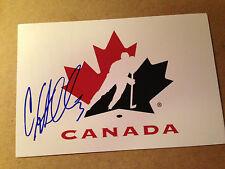 Carla MacLeod SIGNED 4x6 photo WOMEN'S HOCKEY / TEAM CANADA