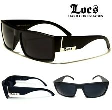 Locs Sunglasses - Stylish Flat Top Frame - Matte Black - Free Postage In AUS
