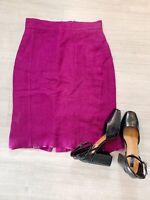 Hobbs Purple Suit Skirt Career Size 14 Knee Length Lined Zip