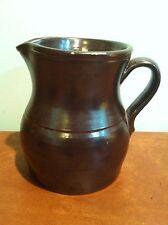 Antique Stoneware Glazed Brownware Jug Pitcher