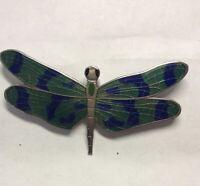 Vintage Dragonfly Brooch Cloisonné Enamel   BROOCH PIN Museum Acme Studio