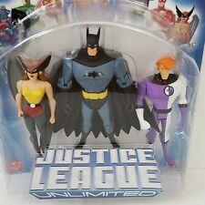 Justice League Unlimited Batman, Hawkgirl, Elongated Man Action Figures 3pk