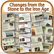 KS2 history STONE BRONZE & IRON AGE topic IWB & worksheets teaching resources