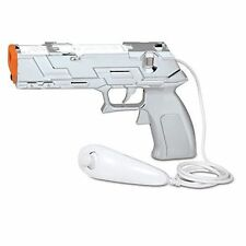 NEW Silver Quick Shot Plus Light Gun for Shooting Games Nintendo Wii Wii U