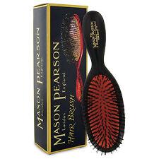 Mason Pearson Cerdas de jabalí Cepillo de tamaño de bolsillo B4 – Rubí Oscuro