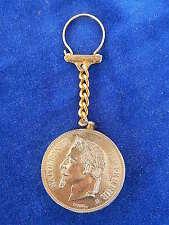 PORTE-CLES & BRIQUET / Key ring & Lighter - NAPOLEON III - PIECE / Coin - RARE !