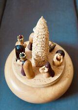 Seiffen Erzgebirge Swiss Reuge Spieluhr Spieldose Christi Geburt O du Fröhliche