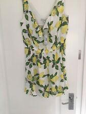 Yellow lemon print playsuit RRP £29 Red Herring SS1