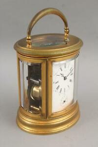 Antique Aiguilles LeRoy Et Fils French Repeating Alarm Bronze Carriage Clock