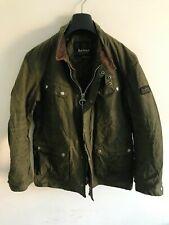 Mens Barbour International Duke wax jacket Dark Green coat M/L 42 Chest