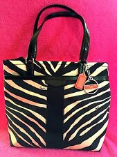 NWT COACH BLACK AND KHAKI  ANIMAL PRINT  CROSSBODY TOTE
