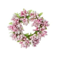 """Raz 3.5"""" Candle Ring Pink Spring Easter Home Decor Fits Votive Candle Gypsum"""