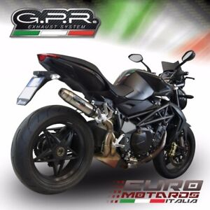MV Agusta Brutale 1090 R /RR 2010-2016 GPR Deeptone Terminale Scarico Exhaust