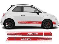 FASCE ADESIVE FIAT 500 ABARTH adesivi fasce LATERALI strisce per auto OMAGGIO.