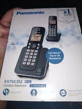 2 Sets - Panasonic Kx-Tgc352B Dect 6.0 Expandable Cordless Phone System (Black)