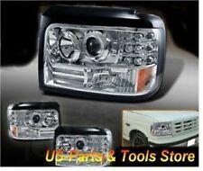 Für Ford F150 F250 F350 Bronco Scheinwerfer Projector Angeleyes 92 - 96 LED 1996