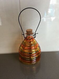 Decorative Glass Coloured Bee / Wasp Trap