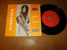 MINA - RAPSODIE - AMORE DI TABACCO - 45 PS / LISTEN - LATIN TEEN ITALIAN POPCORN