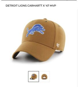 New Carhartt x 47' NFL Detroit Lions Adjustable X  6 7/8-7 1/2 Low Brim Hat