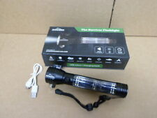 Rugged Reserves The Survivor Tactical LED Flashlight Solar Powered Battery Bank