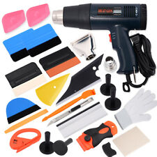 Heat Gun Auto Color Foil Sticker Film Wrap Tools Kit Vinyl Squeegee Knife Gloves