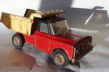 Chevrolet Tipper Dump Truck Tonka Type Tin Tinplate Old Toy 18 cm Long