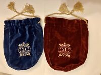 *Set of TWO* VTG CHIVAS ROYAL SALUTE 21 YEARS OLD VELVET CASES *NO ALCOHOL*