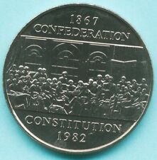 1867-1982 CANADA Confederation Constitution DOLLAR COIN $1 BU from Roll