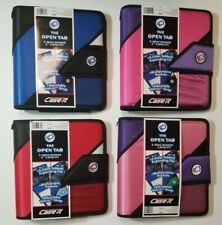 "CASE IT 2"" T618 The Open Tab 3-Ring Binder 5 COLOR TAB FILE MULTIPURPOSE POCKETS"