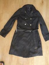 New listing DOROTHY PERKINS ladies black mac style jacket coat with belt UK 8 EXCELLENT