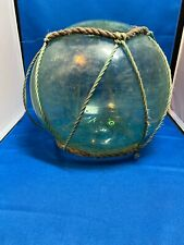 Vintage Large Authentic Roped Net Glass Fishing Float Bouy Ball