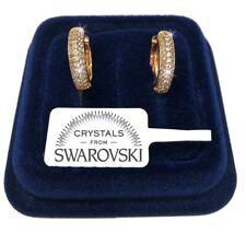 Orecchini Cerchio piccolo donna pl. oro Giallo 18K cristalli swarovski SW/24