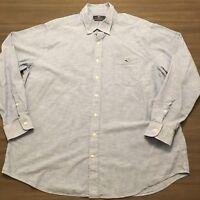 Vineyard Vines Slim Fit Tucker Mens XXL Button Front Collared L/S Shirt 2XL