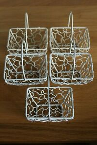 SMALL WIRE BASKETS X 5