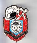 RARE PINS PIN'S .. POMPIER FIRE BLASON ARM CASQUE ST JEOIRE 74 ~CK